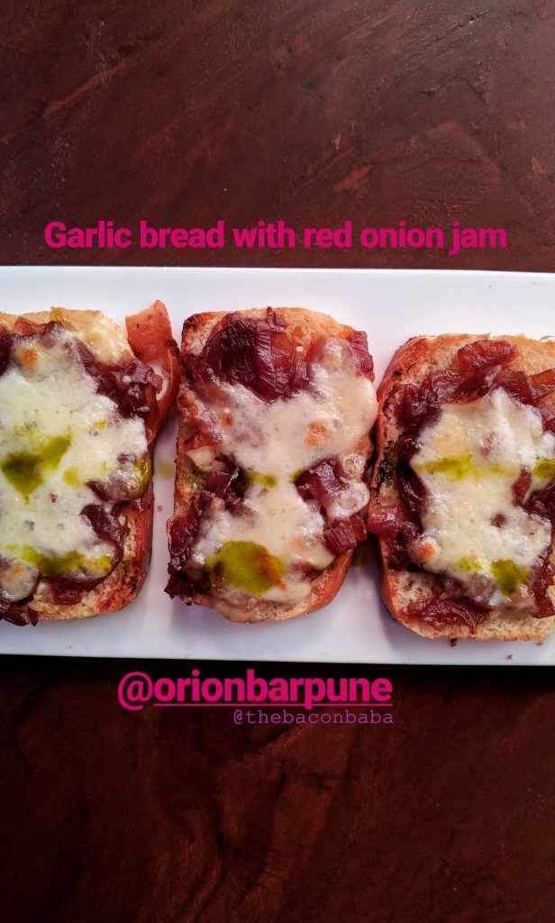 orion baner baconbaba garlic bread