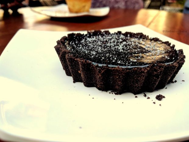 souk baconbaba Dark Chocolate Tart with Mediterranean Sea Salt