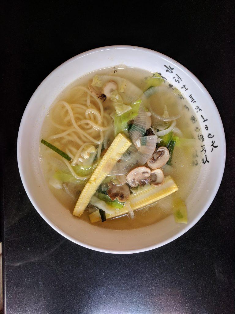 korean baconbaba Clear Noodles Chicken soup