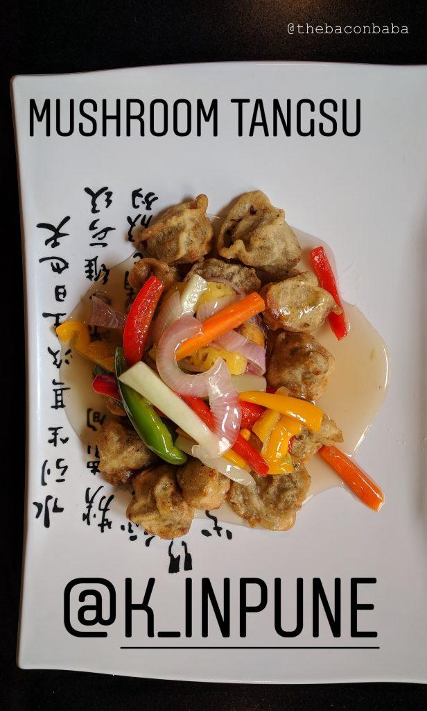 korean baconbaba Tangsu with Fried Mushroom