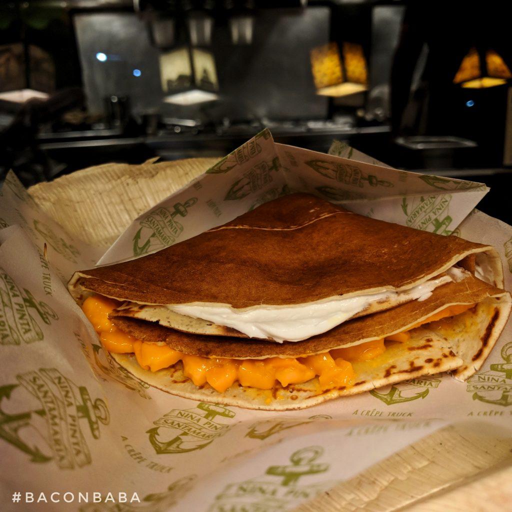 nina pinta santamaria food truck crepe baconbaba mango cream